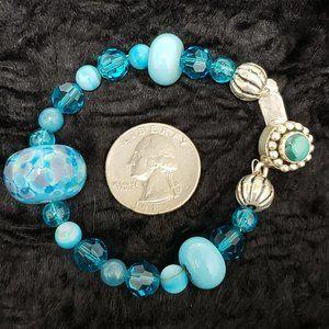 Mosaic Turquoise 925 S-Silver Bracelet.